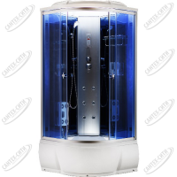 Душевая кабина AquaCubic 3303A blue mirror