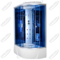 Душевая кабина AquaCubic 3306A Левая blue mirror