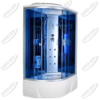 Душевая кабина AquaCubic 3306A Правая blue mirror