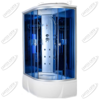 Душевая кабина AquaCubic 3306B Левая blue mirror