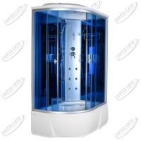 Душевая кабина AquaCubic 3306B Правая blue mirror