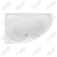 Ванна акриловая AQUANET CAPRI 160x100 Левая