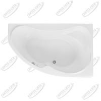 Ванна акриловая AQUANET CAPRI 160x100 Правая