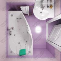 Ванна акриловая Triton Бриз 150x95 Правая