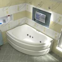 Ванна акриловая BAS Алегра 150x90 Левая