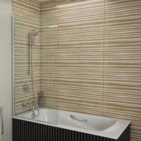 Штора на ванну Bravat Alfa 150x70