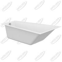 Ванна акриловая Cersanit Crea 160x100 Правая