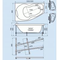 Ванна акриловая Triton Лайма 160x95 Правая