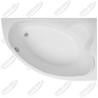 Ванна акриловая AQUANET LYRA 150x100 Правая