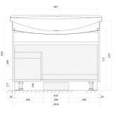 Тумба с раковиной MarkaOne Lina Classic 105 см