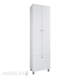 Шкаф-колонна Акватон Симпл бел. корзина