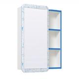 Зеркальный шкаф Runo Капри 55 см синий