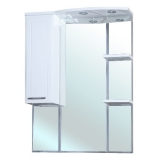 Зеркало-шкаф Bellezza Коралл 85 см левый