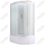 Душевая кабина AquaCubic 3106D Левая fabric white