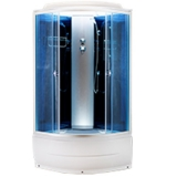 Душевая кабина AquaPulse 4303D blue mirror