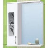 Зеркало-шкаф Vako Дельфин 50 см левый