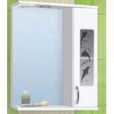 Зеркало-шкаф Vako Дельфин 50 см правый