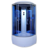 Душевая кабина AquaPulse 4302D blue mirror