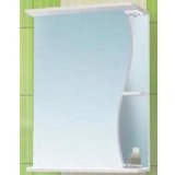 Зеркальный шкаф Vako Волна 55 см левый