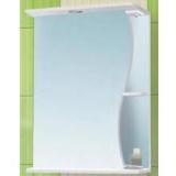 Зеркальный шкаф Vako Волна 50 см левый