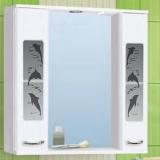 Зеркало-шкаф Vako Дельфин 80 см