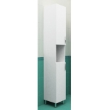 Колонка напольная 28 см с корзиной белая