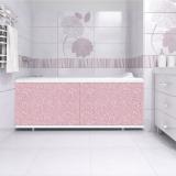Экран Ультралегкий розовый иней под ванну