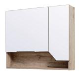 Зеркальный шкаф Runo Родос 85 см правая