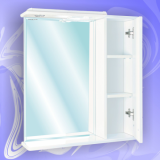 Зеркало-шкаф Андария Андреа 85 см правый