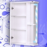Зеркальный шкаф Андария Бриз 65 см левый