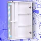 Зеркальный шкаф Андария Бриз 55 см правый