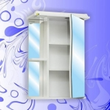 Зеркальный шкаф Андария Бриз 50 см правый
