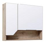 Зеркальный шкаф Runo Родос 85 см левая
