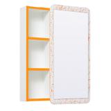 Зеркальный шкаф Runo Капри 55 см оранжевый