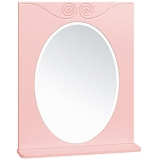 Зеркало Runo Винтаж 60 см розовое