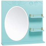Зеркало Runo Винтаж 75 см лазурное
