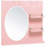 Зеркало Runo Винтаж 75 см розовое