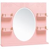 Зеркало Винтаж 85 розовое
