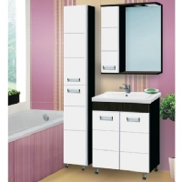 Зеркало-шкаф Vako Флора 50 см левый