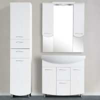 Зеркало-шкаф WL Blumarin Волна 85 см