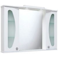 Шкаф зеркальный Линда Люкс 105